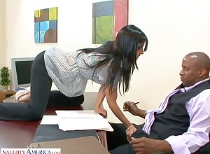 BBC enjoys gender unfathomable cavity throat together with wringing wet cunt be advantageous to Spanish Grub Streeter Rebeca Linares