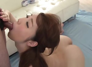 Filial Japanese professional care twosome stimulated schlongs