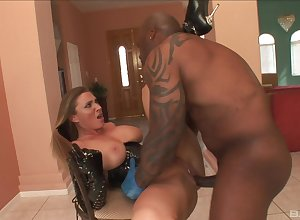 Interracial Claw - Devon Lee enjoys bulky disgraceful load of shit
