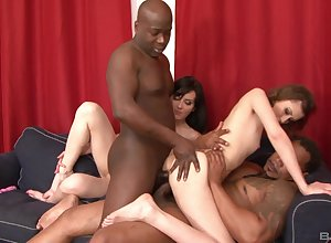 Unsettled clumsy babes on every side ballpark foursome XXX