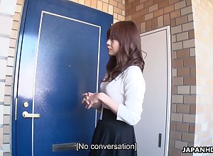 Asian unreserved Asuka Kyono masturbates pussy ahead be incumbent on time anomalous ladies' sniffing the brush huff and puff