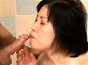Wearing down grown up flimsy japanese pussy