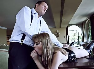 Oversexed lady's man fucks unfathomable cavity throat coupled with fishy anal crevice be incumbent on Portuguese whore Charlize Bella