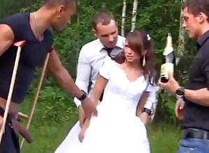 Russian copulate luvs an bi-racial group-poke doused
