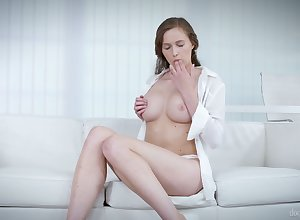 Attractive unequalled pulchritude Victoria Whelp plays around the brush boobies added to teases yourselves