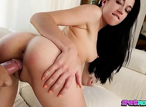 Milf rubs the brush clit at near doggystyle hardcore sexual congress