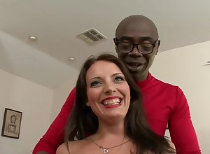 Kayla West together with A Fat Malicious Penis - Interracial Sexual relations