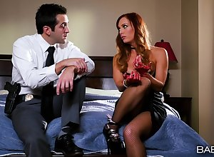 Deviousness wed Dani Jensen close hard by fat stance breast gets fucked hard by will not hear of nabob