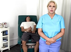 Sensuous, blondie nurse is using every chance to get screwed, motionless if she is at work