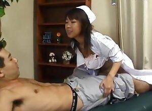 Horny Japanese nurse Ryo Hazuki enjoys dimension getting fucked
