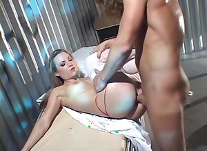 Tantalizing Nurse Bangs With The brush Patient In The Jail
